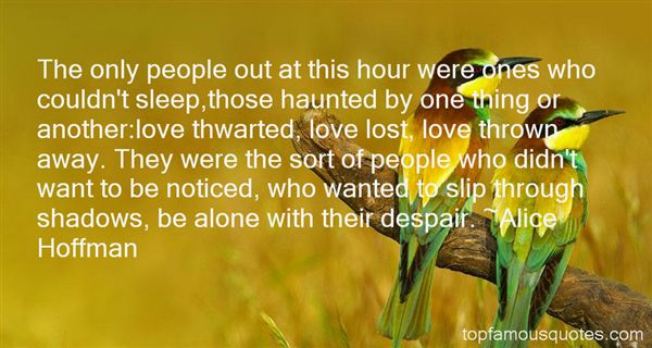 Quotes About Thwarted Love