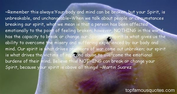 Quotes About Unbreakable Spirit