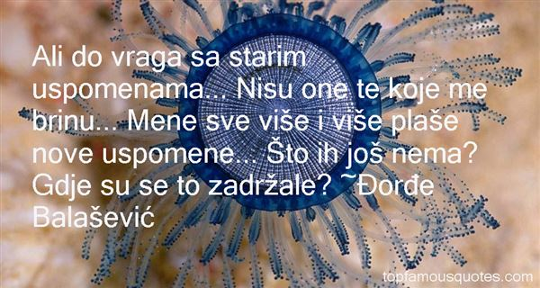 Quotes About Uspomene