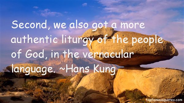 Quotes About Vernacular