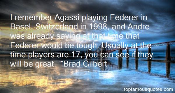 Quotes About Agassi Federer