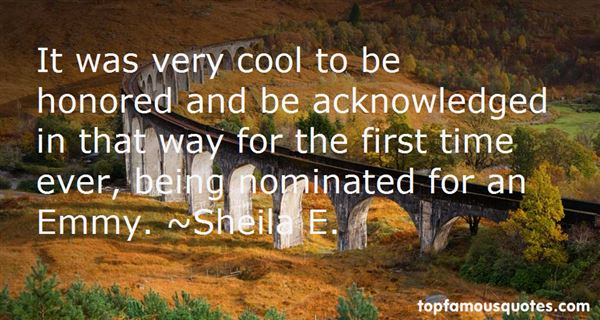 Quotes About Being Nominated