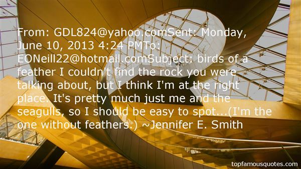 Quotes About Birds Of A Feather
