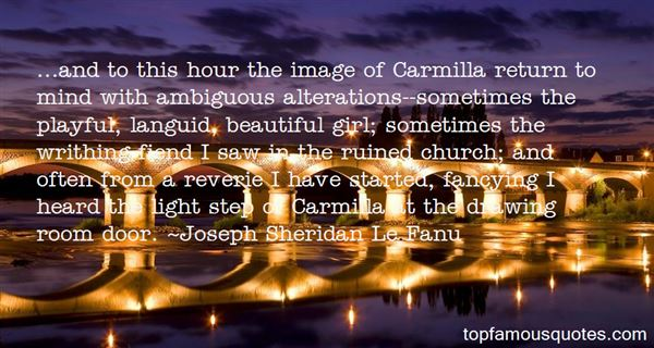 Quotes About Carmilla