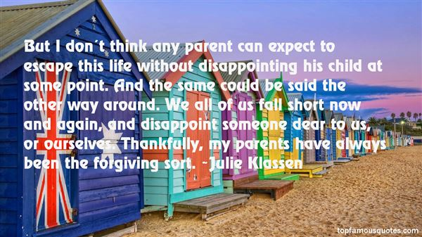 Quotes About Disappointing Parents