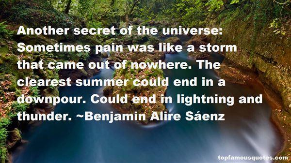 Quotes About Downpour