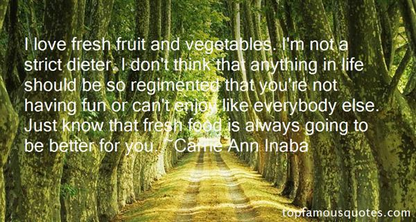 Quotes About Fresh Food