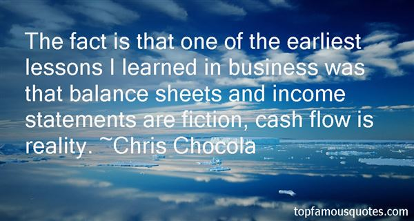 Quotes About Income Statements