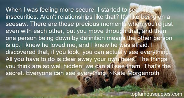 Quotes About Insecurities In Love