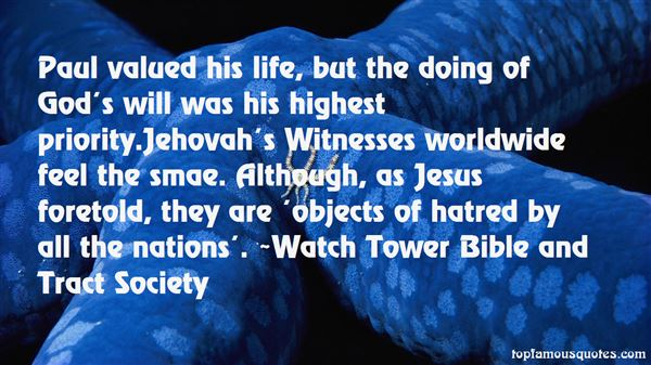 Quotes About Jehovah Witnesses