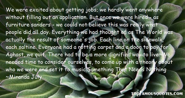 Quotes About Job Application
