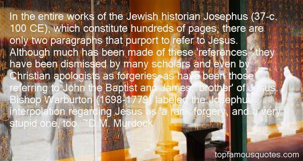 Quotes About Josephus