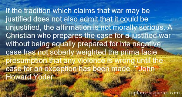 Quotes About Justified War
