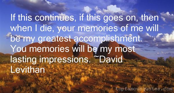 Quotes About Lasting Impressions