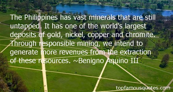 Quotes About Mineral Resources