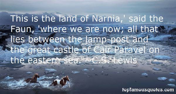 Quotes About Narnia The Lamp Post
