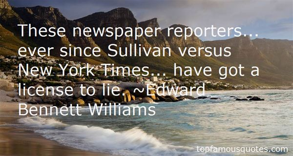 Quotes About Newspaper Reporters
