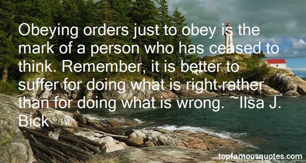 Quotes About Obeying Orders