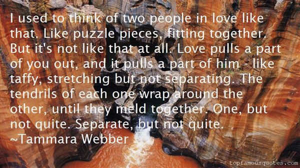 Quotes About Pieces Fitting Together