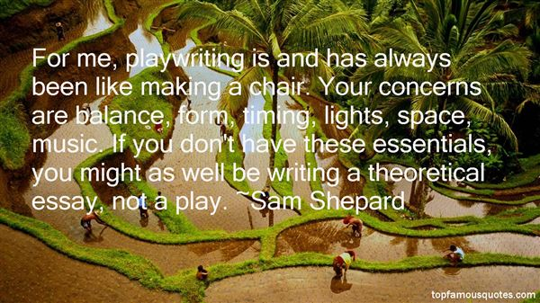 Quotes About Playwriting