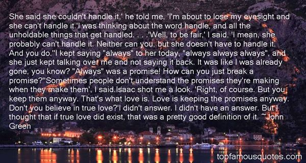 Quotes About Promise Of Love