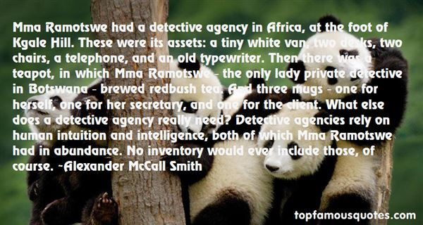 Quotes About Ramotswe