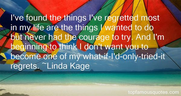 Quotes About Regretted