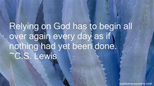Quotes About Relying On God
