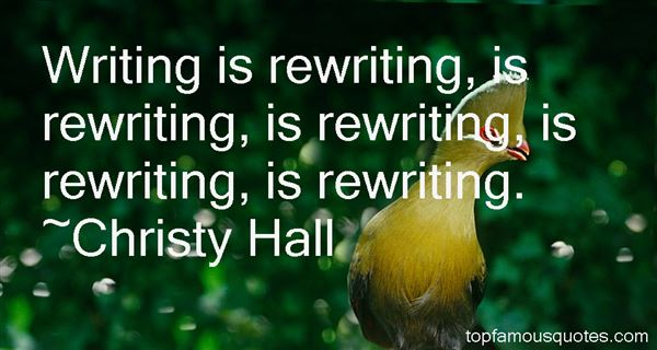 Quotes About Rewriting