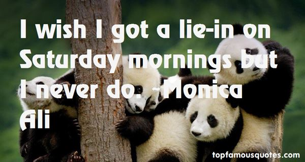Quotes About Saturday Mornings