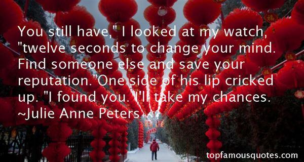 Quotes About Seconds Chances
