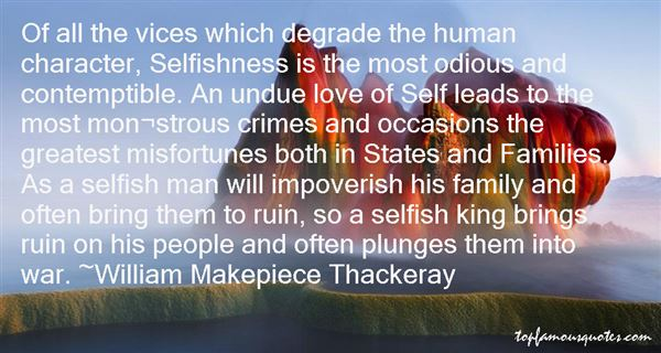 Quotes About Selfishness And Family