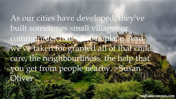 Quotes About Small Communities