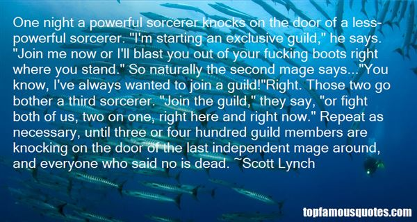 Quotes About Sorcerer