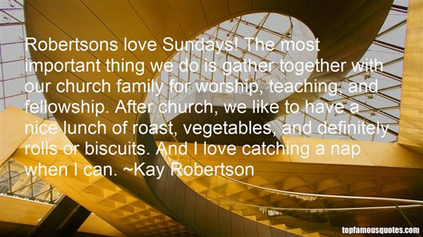Quotes About Sunday Worship