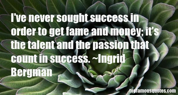 Quotes About Talent And Success
