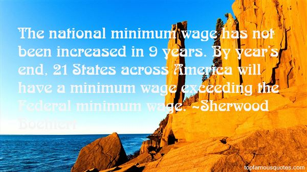 Quotes About The National Minimum Wage