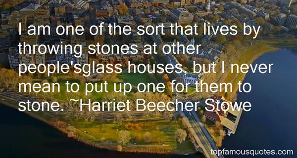 Quotes About Throwing Stones
