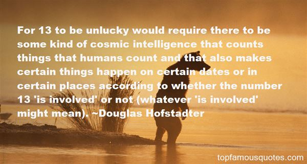 Quotes About Unlucky 13