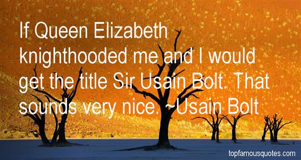 Quotes About Usain Bolt