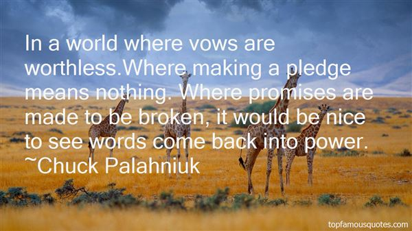 Quotes About Vows Broken