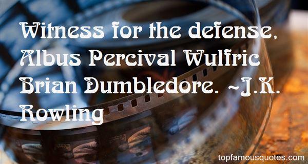 Quotes About Albus Dumbledore