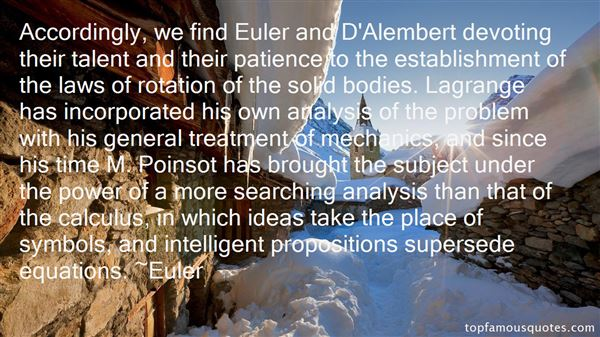 Quotes About Alembert