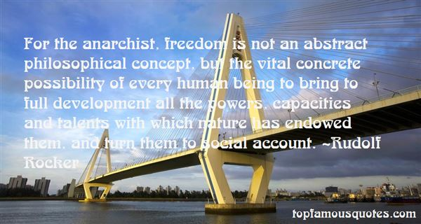 Quotes About Anarchist Freedom
