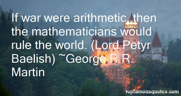 Quotes About Arithmetic