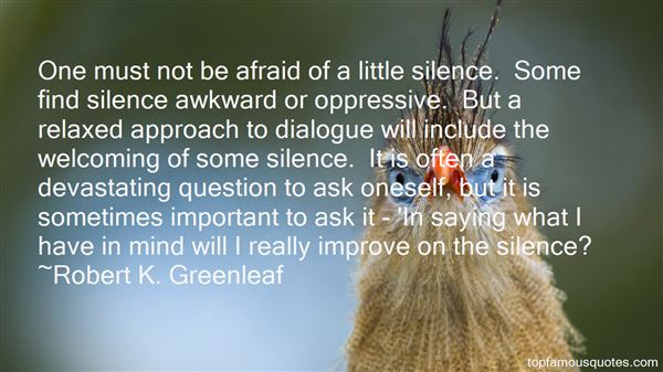 Quotes About Awkward Silence