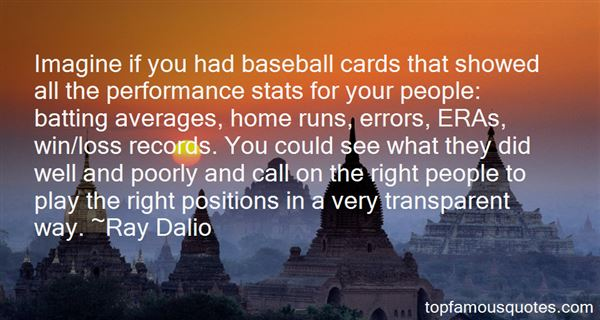 Quotes About Baseball Stats