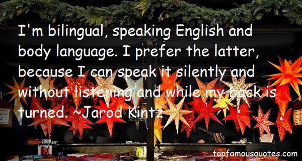 Quotes About Bilingual Language