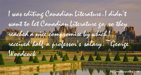 Quotes About Canadian Literature