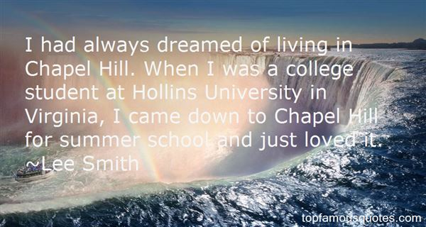 Quotes About Chapel Hill